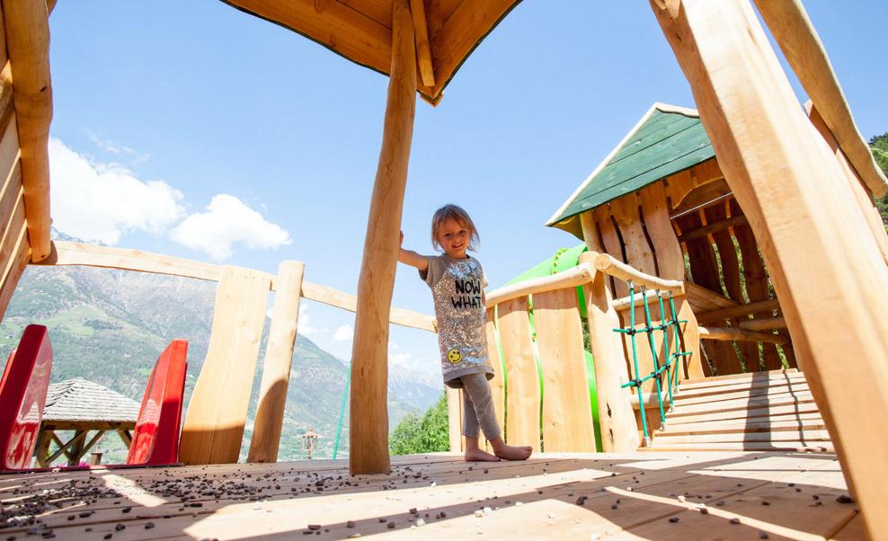 Rstorante per bambini a Naturno: parco giochi e mini club