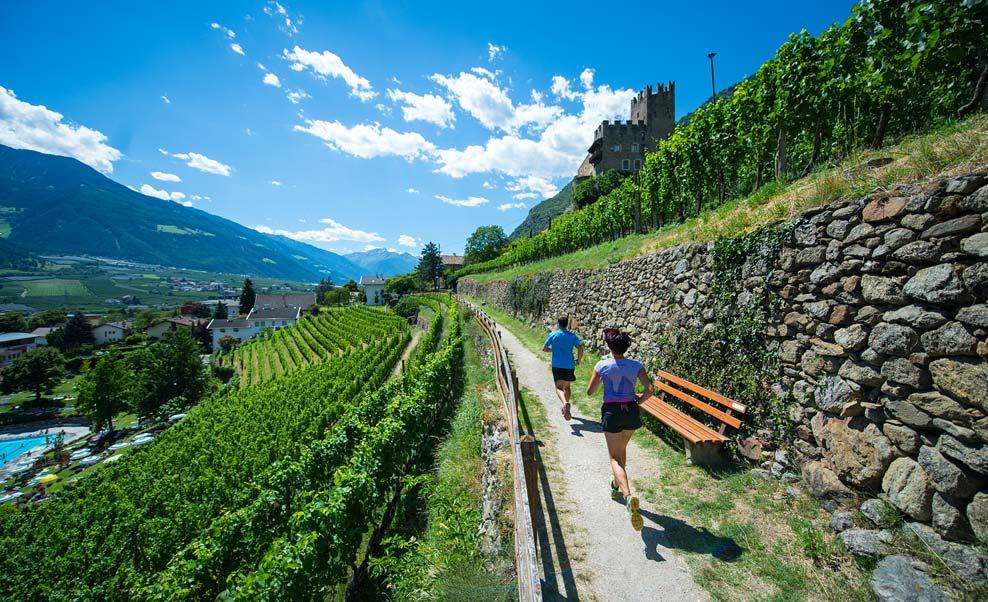 I dintorni del ristorante per famiglie Waldschenke a Naturno, Val Venosta